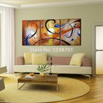 Pcs Modern Abstract Oil Painting Contemporary Wall Art Large Paintings Office