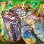 Penny Paints Lee Stewart Aka Craftylady Reptiles Toad Road Iguana