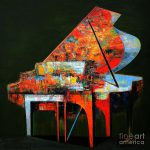 Piano Enthusiasm Painting