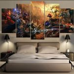 Pieces One Set Game Figure Bedroom Painting Wall Art Home Decoration Canvas