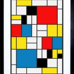 Piet Mondrian Abstract Cubes Squares Old Master Framed Art Print