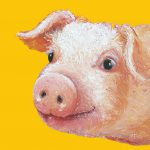 Pig Painting Yellow Jan