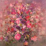 Pink Flowers Bouquet Painting Mario