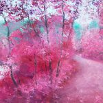 Pink Landscape Painting Jan