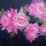 Pink Roses Oil Painting Jan