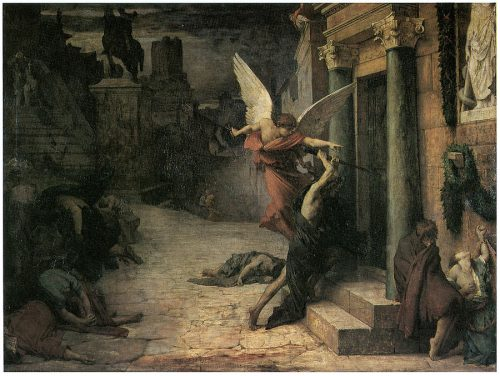 Plague Rome Painting Jules Elie