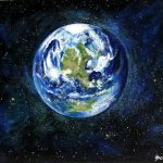 Planet Earth Original Acrylic