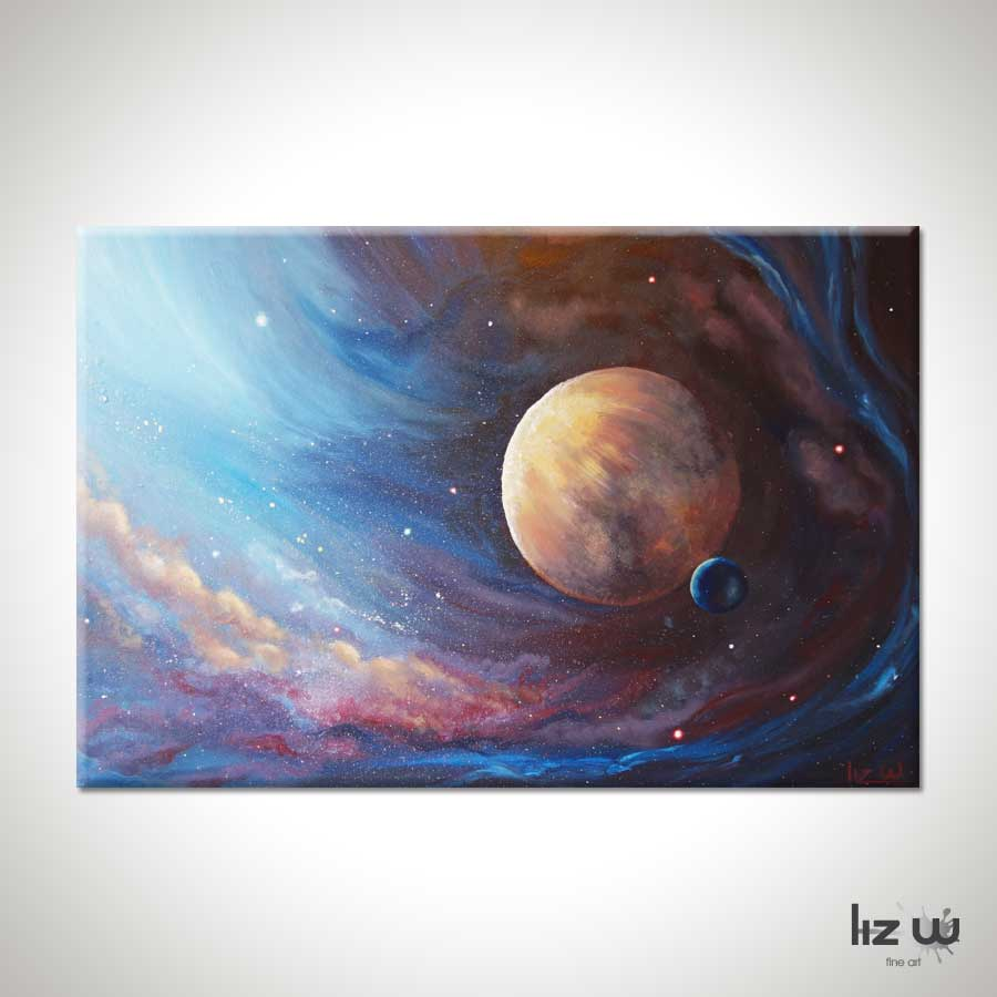 Planet Space Painting Unknown Galaxy Liz