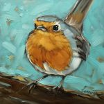 Pmp Art Andrea Lavery Robin Painting Pinterest