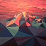 Polygon Landscape Paintings Highlight Geometry