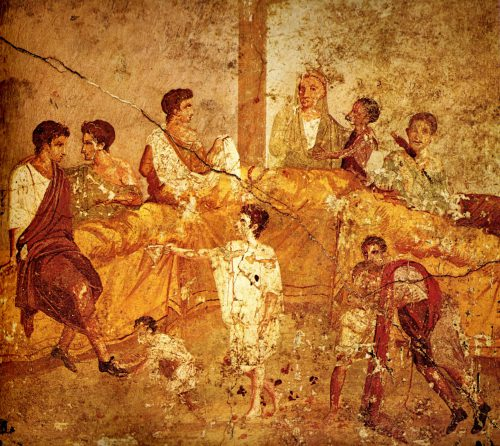 Pompeii Feast Painting Naples