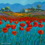 Poppies Blue Painting Chris