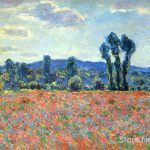 Poppy Field Giverny Claude Monet Paintings Sale Wall Art High Quality Hand