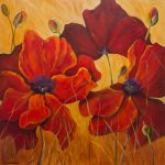 Poppy Flowers Painting Wall Art Floral
