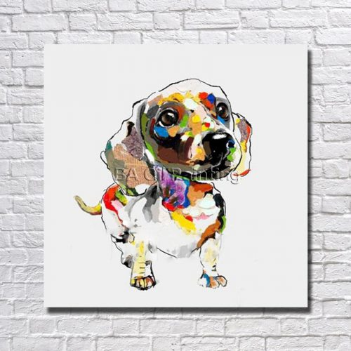 Popular Abstract Dog Paintings Buy Cheap Lots