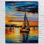 Popular Oil Painting Boat Buy Cheap Lots