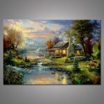 Popular Oil Painting Cottage Buy Cheap Lots
