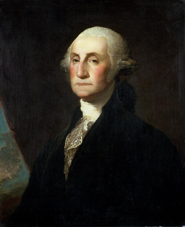Portrait George Washington Painting Gilbert