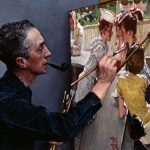 Portrait Norman Rockwell Painting Soda Jerk Private Collection Nrelc