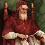Portrait Pope Julius Raphael Oil Painting