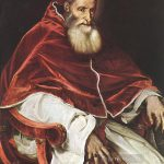 Portrait Pope Paul Iii Tiziano Titian Painting Oil