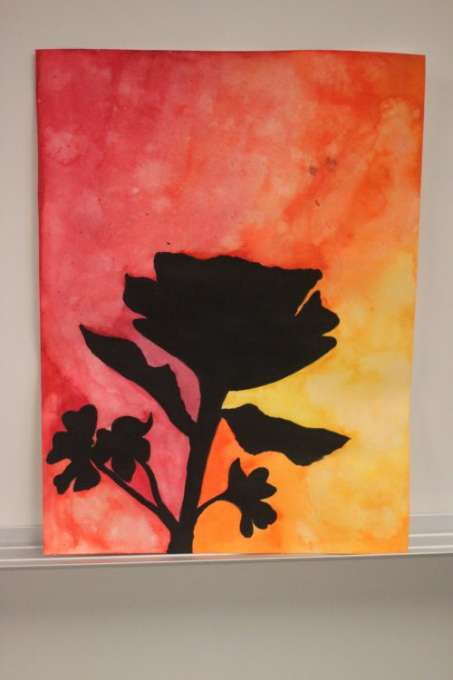 Positive Negative Space Paintings Mrs Bailey Art