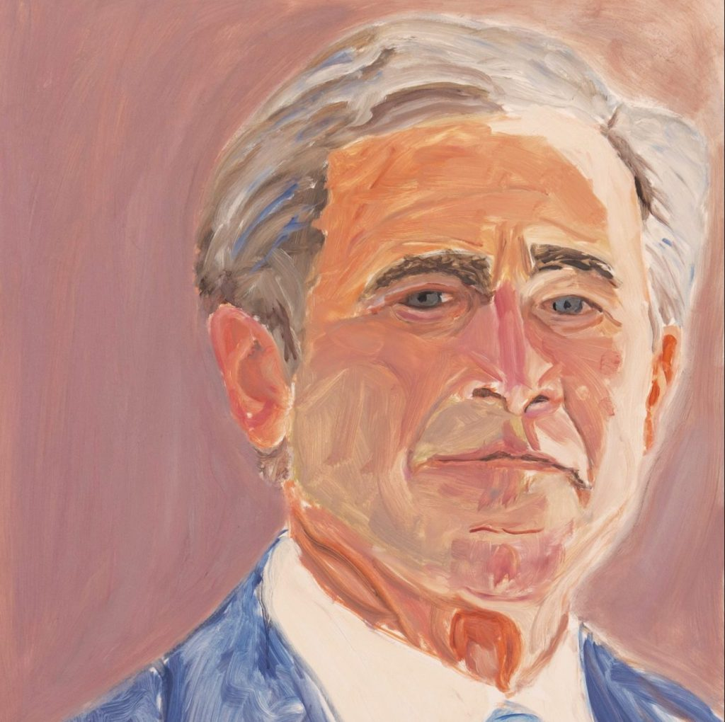 President Painter George Bush Artwork Heading Steamboat Springs One