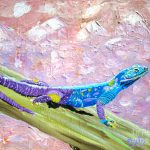 Pretty African Lizard Painting Phyllis