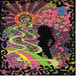 Psychedelic Hot Chick Silhouette Blotter Art Perforated
