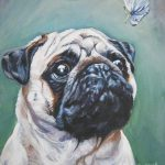 Pug Butterfly Painting Lee Ann