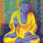 Purple Buddha Art Print