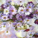 Purple Flower Painting Flowers Ideas