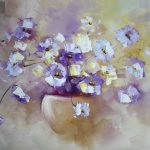 Purple Flowers Painting