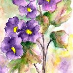 Purple Flowers Painting Lila Van