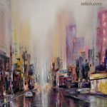 Purple Rain Abstract Cityscape Sold Paintings Amazing