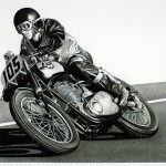 Racing Caf Motorcycle Art Bob
