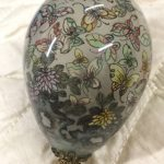 Rare Antique Chinese Reverse Painted Glass Decorative Egg Painting Butterflies