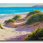 Realistic Beach Painting Sand Dune Seascape Fine