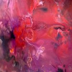 Red Art Pink Purple Abstract Painting Ice