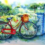 Red Bicycle Painting Trudi