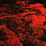 Red Dragon Contemporary Dark Abstract Painting Modern Art