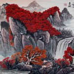 Red Leaves Autumn Asian Art Landscape Landscapes Asia Paintings Chinese