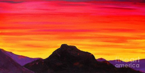 Red Mountain Sunrise Painting