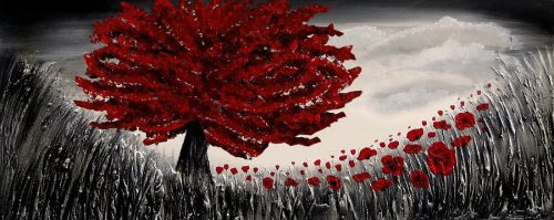 Red Tree Painting Amanda