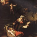 Rembrandt Holy Angels Painting Anysize