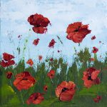 Remember Poppy Field Series Acrylic Paintings Melissa Mckinnon