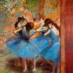 Reproduction Painting Edgar Degas Dancers Blue Hand Painted Reproductions Art Oil