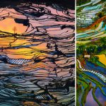 Rice Fields Look Like Abstract Paintings Cool Crazy