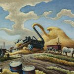 Rice Threshing Artwork Thomas Hart Benton Oil Painting Art Prints Canvas