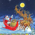 Richard Wolfe Merry Christmas All Painting Print